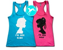 Frozen Workout Tank sister set Anna Elsa Disney vacation marathon race Shirt Top Training Tank funny running exercise fitness