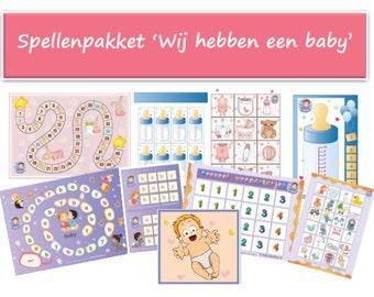"Kindergarten games  ""We have a baby"" theme"