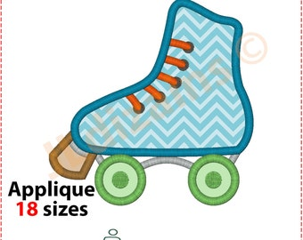 Roller Skate Applique Design. Roller skate embroidery. Embroidery applique roller skate. Applique roller skate. Machine embroidery design