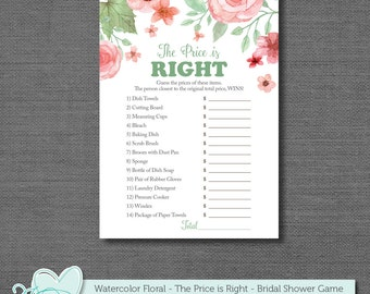 Items similar to bridal shower game or wedding reception for Price is right bridal shower game template