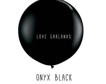 """Onyx Black 36"""" Balloon, Black 36"""" Balloon, Black Round Balloon, Black Wedding Balloon, Black Tie Affair, Black Wedding Decor, Black Balloons"""