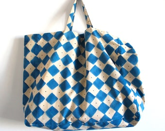 NEW - LIMITED EDITION - Hand painted large tote bag