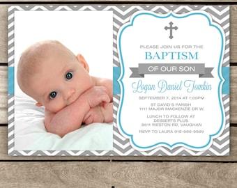 Baptism Invitation - Little Boy Baptism, Baptism Boy, Baptism, First Baptism, Holy Baptism Invitation