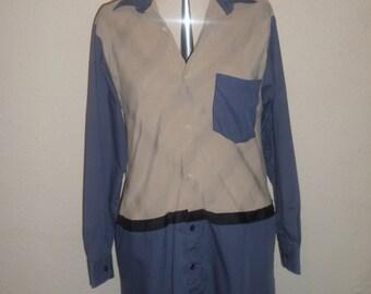 Recycled Shirt Dress Size 12UK