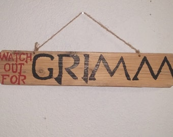 RWBY Watch out for Grimm Sign | Hand painted - Upcycled