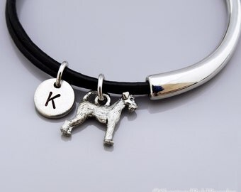 Airedale terrier Bangle, Airedale terrir bracelet, Airedale terrier dog jewelry, king of terriers, Leather bracelet, Leather bangle
