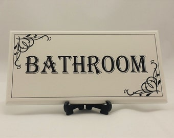 Powder room sign | Etsy