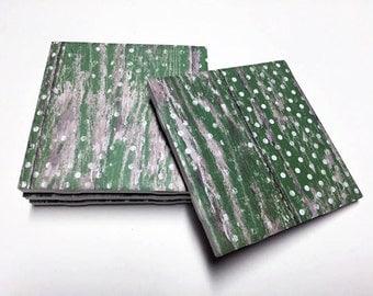 Polka Dot Green Coasters - Polka Dot Decor - Home Decor - Drink Coasters - Tile Coasters - Ceramic Coasters - Table Coasters