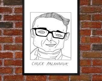 Badly Drawn Chuck Palahniuk - Literary Poster - *** BUY 4, GET A 5th FREE***