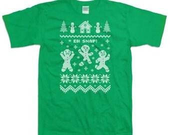 Ugly Christmas TShirt Gingerbread Man Shirt Christmas Presents Movie T Shirt Gifts For Xmas Christmas Gifts Holiday Gift Ideas Xmas DN-245