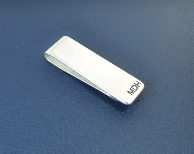 Sterling Silver Money Clip, Money Clip, Customized Money Clip, Groomsmen, Fathers Day, Graduation Gift for Male, Mans Birthday, Gift for Him