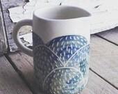 Grassy mountain jug, ceramic jug, creamer, water jug, milk jug, Australian ceramics, Australian made, handmade jug