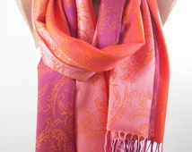 Pashmina Scarf Ombre Scarf Shawl Infinity Scarf Circle Scarf Christmas Gift for her Gift for Grandma for Sister Mothers Day From Daughter