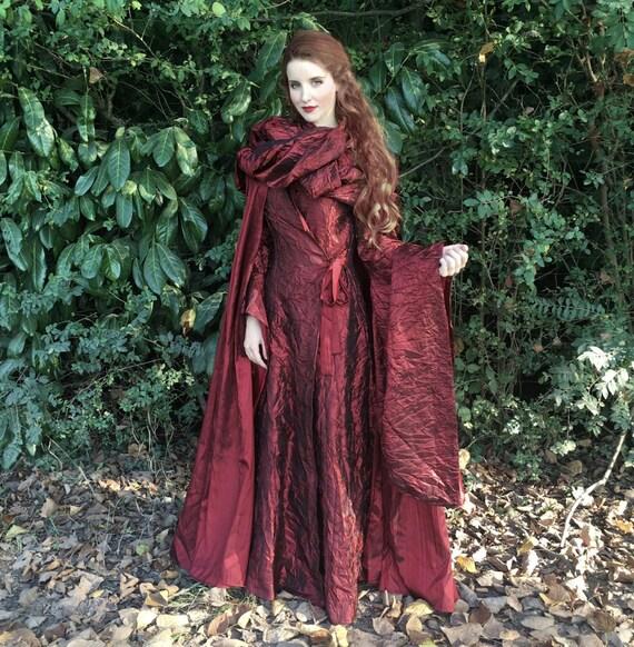 Game Of Thrones Medieval Melisandre Cosplay Costume Halloween ...