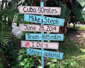 Directional Wedding Sign, Rustic Wedding Decor, I Do's Shoes Optional, Beach Nautical Wedding Sign