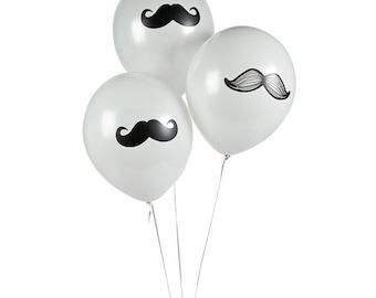 12/ Mustache Party Latex  balloon