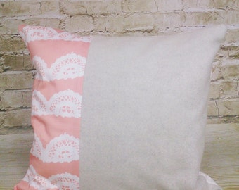 100 % ORGANIC cushion cover Fancy Lace
