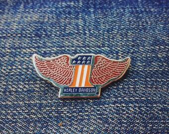 Vintage Harley Davidson USA #1 winged pin