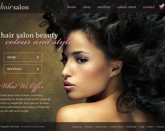 Hair Salon Website Design - Premade OOAK