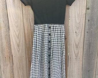1980's Checkered Dress