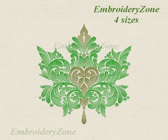 Leaf embroidery design fall autumn leaves for decoration at