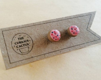 Tiny Donuts - Polymer Clay Sterling Silver Earrings