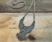 Harley Davidson vintage necklace