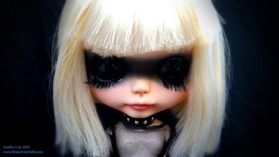 "Pris a Custom OOAK Blythe Doll by Sandra Coe (Custom #23) Blade Runner Art Doll 12"" Figure"