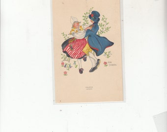 C1940 A/S Aina Stenberg Music Dancing Sweden-Dalarna Sweden-Traditional Dance And Costume-Unused