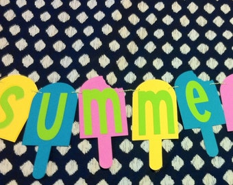 Sweet Summertime Popsicle Banner