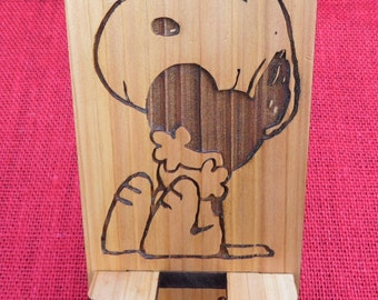 Snoopy Cell Phone Stand - You stole my heart