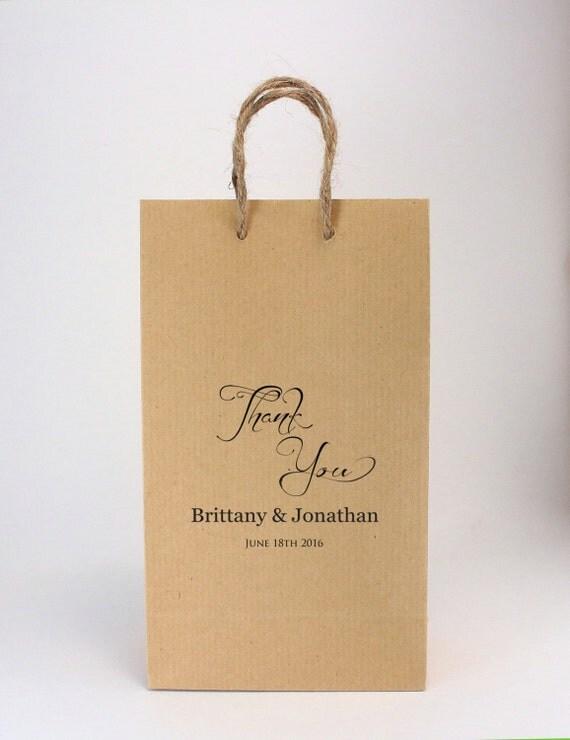 Small Personalised Wedding Gift Bags : Wedding Favor Bags100 SMALL Kraft Brown Favor BagsBurlap Twine ...