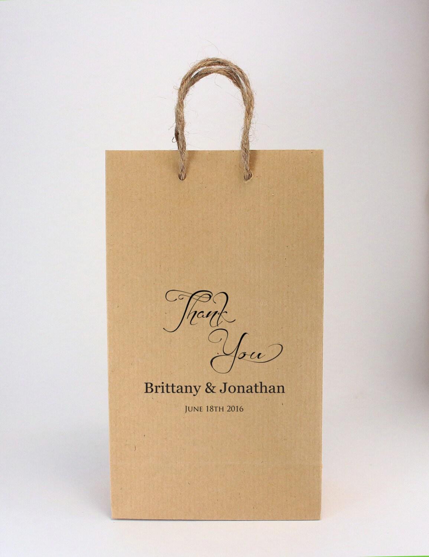 Wedding Favor Bags Brown : Wedding Favor Bags 100 SMALL Kraft Brown Favor Bags Burlap