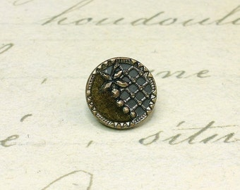 Rare Small Antique Perfume Picture metal Button 11 mm