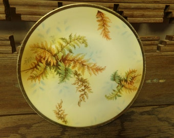 Antique Royal Rudolstadt Fern Plate c. 1905 to c. 1920 Prussia Mark B -  [#186- LR - Cabinet]