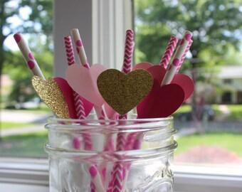 Heart Drinking Straws