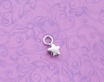 Add a Stainless Steel Star Urn Charm - For Ashes - Cremation Jewelry - Engraved Urn - Engraved Jewelry - Star Urn - Tiny Urn Necklace