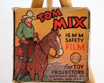 Tom Mix, 16 MM  Safety Film for Toy Projectors, Keystone MFG Co, Boston
