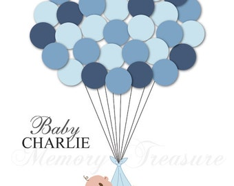 baby shower guest book alternative guest sign in ideas blanket balloons poster print guest sign