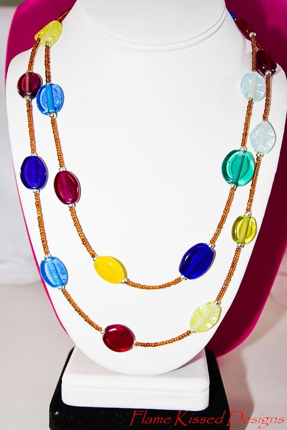 LOLLIPOP...artisan crafted Lampwork Bead Necklace