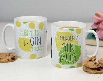 Gin Lover Mug - Emergency Gin Mug