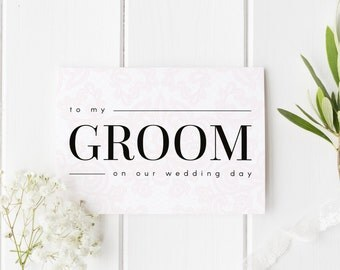 To My Groom On Our Wedding Day, Groom Wedding Day Card, Elegant Lace Wedding Card, Card For Groom Wedding Day, To My Groom On My Wedding Day