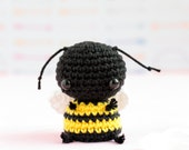 Little bee stuffed animal, Crochet bee, Amigurumi bee, Crochet miniature animals, Stuffed bee, Knitted animals, Crochet plush bee, Tiny bee
