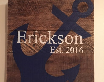 Custom Anchor Sign // Personalized // Gifts for Her // Gifts for Him // Housewarming // Wedding Gift  // Home Sign