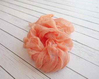 Newborn Cheesecloth Wrap, Coral Baby Wrap, Maternity Cheesecloth Wrap