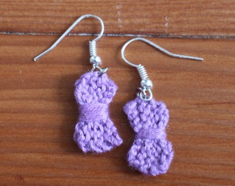 Knit Bow Earrings