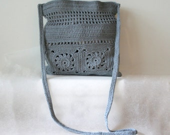Grey Bag , shoulder bag , Crochet bag , Crochet Purse pattern , Bag Pattern