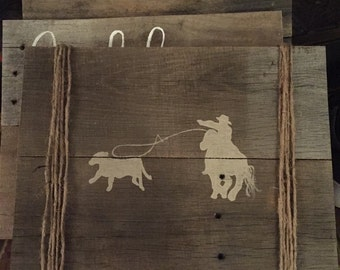 Rodeo Cowboy Pallet Sign