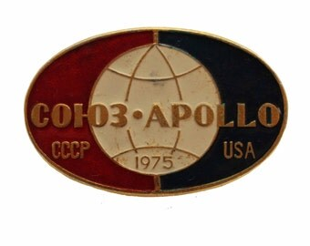 Apollo Sojuz Apollo Old Soviet Rare badges Pins Cosmos badges Soviet Cosmos Badges Pins Soviet Space Badges Pins Vintage USSR Pins Badges