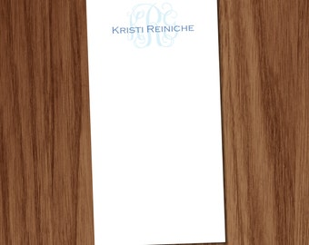 Girls Personalized Monogrammed Notepad with Name - Note Pad gift for teachers ladies moms friends - Custom Memo Pad